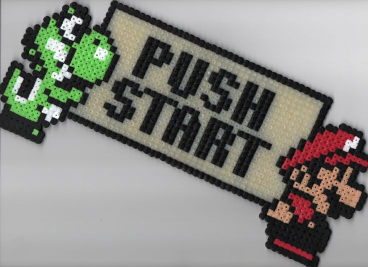 pixel art Push Start by CiberL on DeviantArt