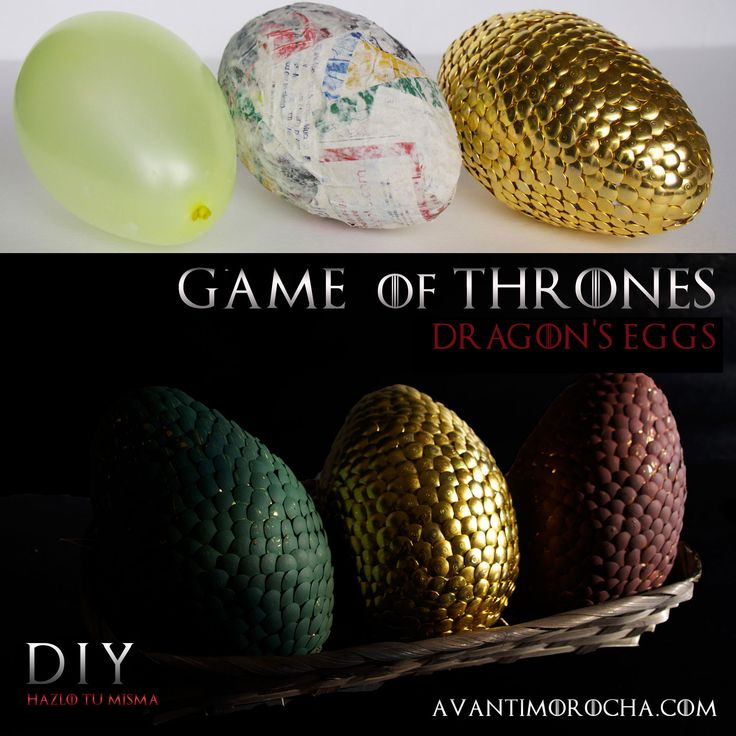 DIY Game of Thrones Dragon's Eggs- make these smaller this could work as place cards or keep them this big and find a way to make center pieces