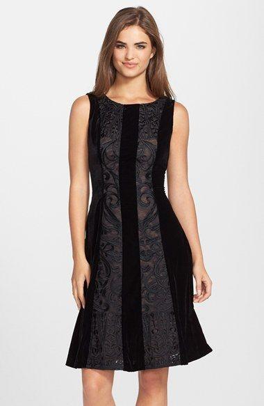 Eva Franco BB Dakota Velvet Fit & Flare Dress available at #Nordstrom