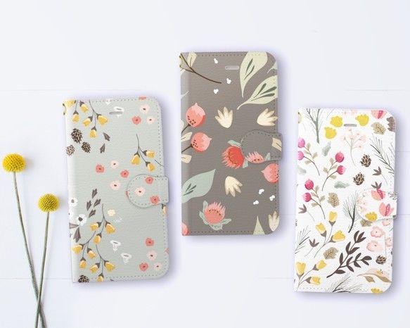 大人可愛い花柄のスマホケース(手帳型iPhone7/7Plusケース・他機種対応)|iPhoneケース・カバー|petite bonheur|ハンドメイド通販・販売のCreema