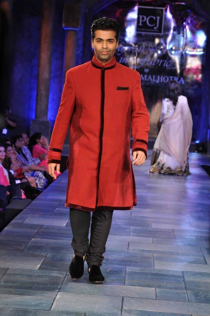 Karan Johar Walking the Ramp for his designer friend !