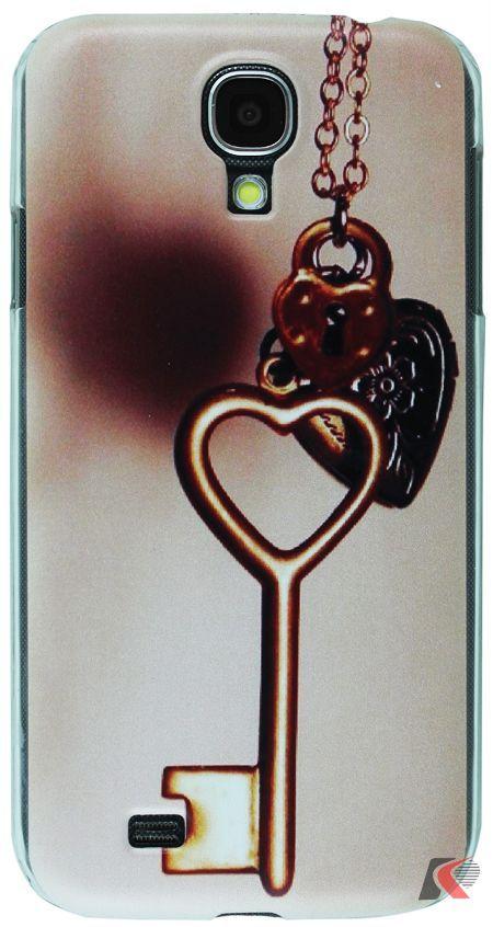 Samsung Galaxy S4 Anahtar Kalp Desenli Kılıf