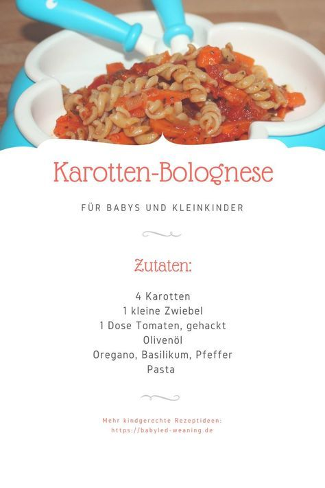 Meatless BLW Recipe: Carrot Bolognese   – Kochen für Kleinkinder