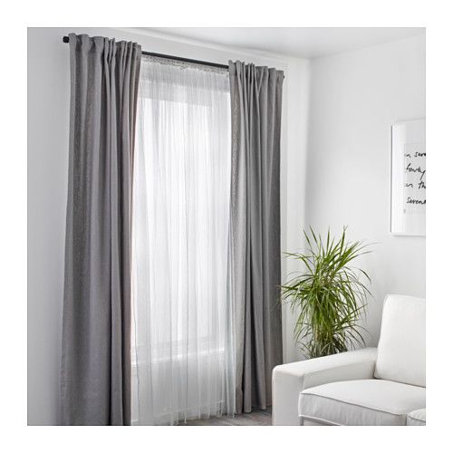 INGERT curtains ($49.99/ pair) with LILL Lace curtains ($4.99) - IKEA