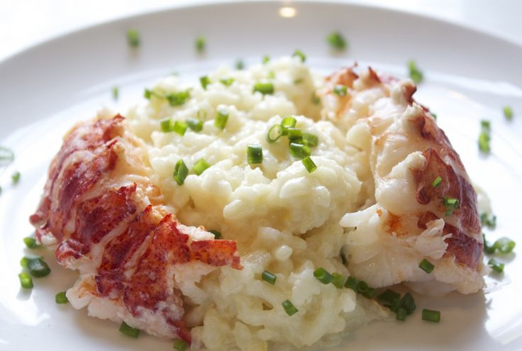 Butter Poached Lobster with Lemon Risotto
