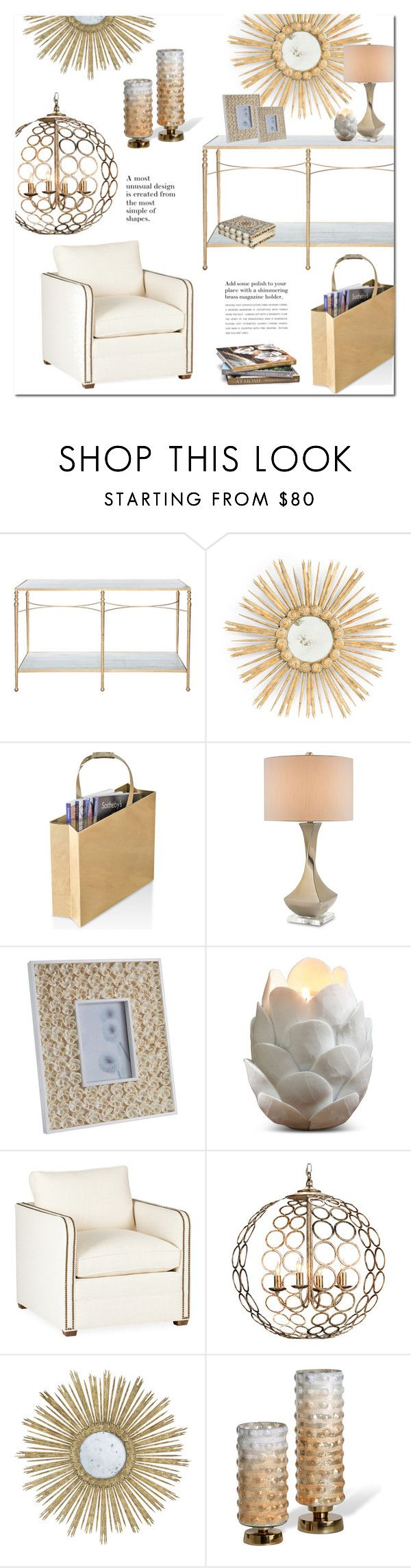 """""""Hollywood Regency"""" by kathykuohome ❤ liked on Polyvore featuring interior, interiors, interior design, home, home decor, interior decorating, Home, homedecor, homedesign and homeset"""