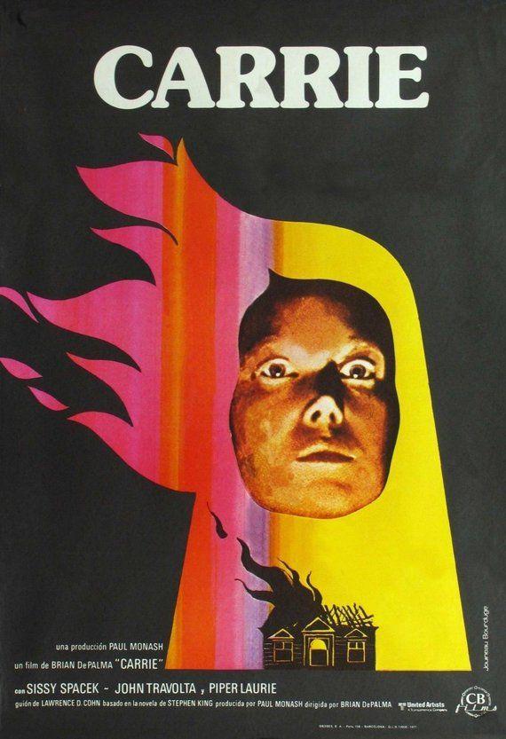 CARRIE Movie Poster 1976 RARE Horror Brian DePalma