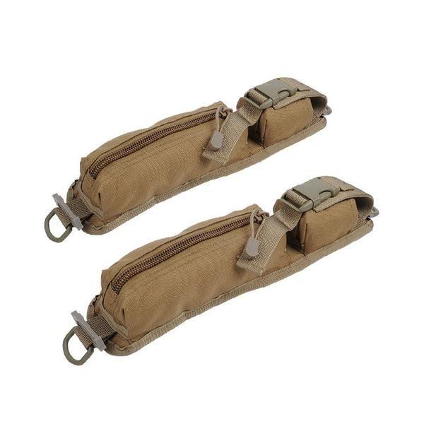 2Pcs Tactical Molle Accessory Pouch Rucksack Backpack Shoulder Strap Bag