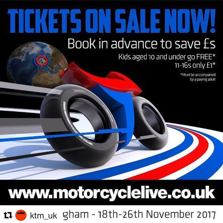 Motorcycle Live 2017 tickets on sale now!  Advance tickets to Motorcycle Live  the UKs biggest bike show - are on sale now with prices frozen at 2016 rates. Doors open at The NEC Birmingham from 18-26 November.  This year the ticket price remains all-inclusive and advance buyers will not only benefit from significant savings in comparison to the on-the-door price they will also be in with a chance of winning one of hundreds of on-the-spot prizes in the shows 2017 Golden Ticket promotion…