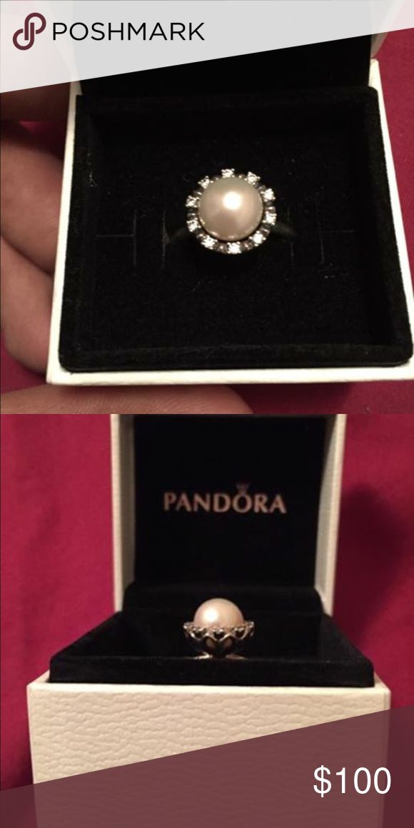 BRAND NEW PANDORA RING NEVER USED pandora pearl ring. Pandora Jewelry Rings #pandorajewelry