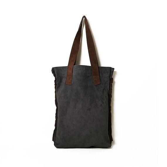 #Blue_suede. Suede_bag. #Tote_bag. Minimal navy by ElenaVandelliBags