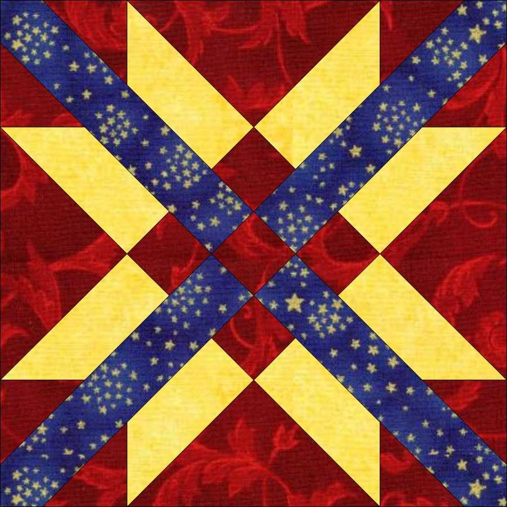 Mexican Star Block Freedom Star Colors Fabric