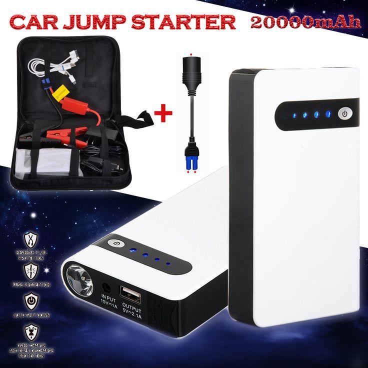 12 V 20000 mAh Weiß Tragbare Auto Starthilfe Energienbank Notfall Auto Batterie Booster Pack Fahrzeug Auto Starthilfe a-CS003