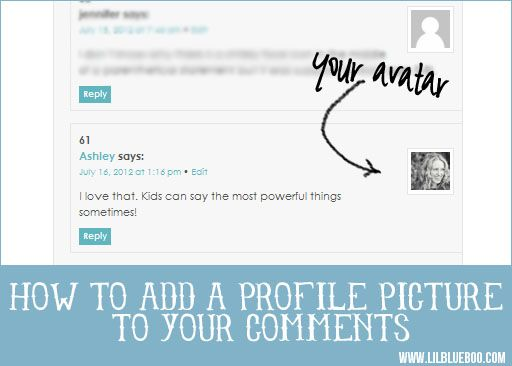 How to add a universal profile photo to your blog comments via lilblueboo.com: Technology Business Tips, Blogging Advice Tutorials, Blog Stuff, Blogging Set Up, Blog Helps, Lilblueboo Com 5 10 2013, Blog Comments