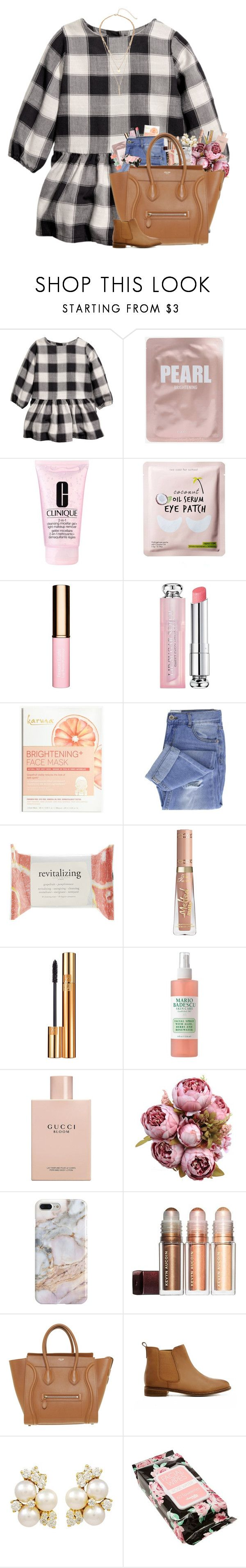 """""""OOTD: Tuesday"""" by preppyandperfect ❤ liked on Polyvore featuring Clinique, Clarins, Christian Dior, Madewell, Taya, Forever 21, Yves Saint Laurent, Mario Badescu Skin Care, Gucci and Recover"""