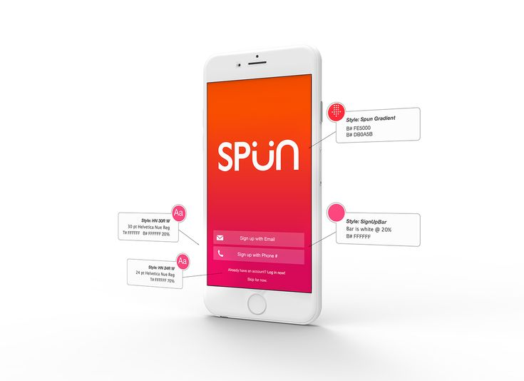 Spun App Spec on Behance