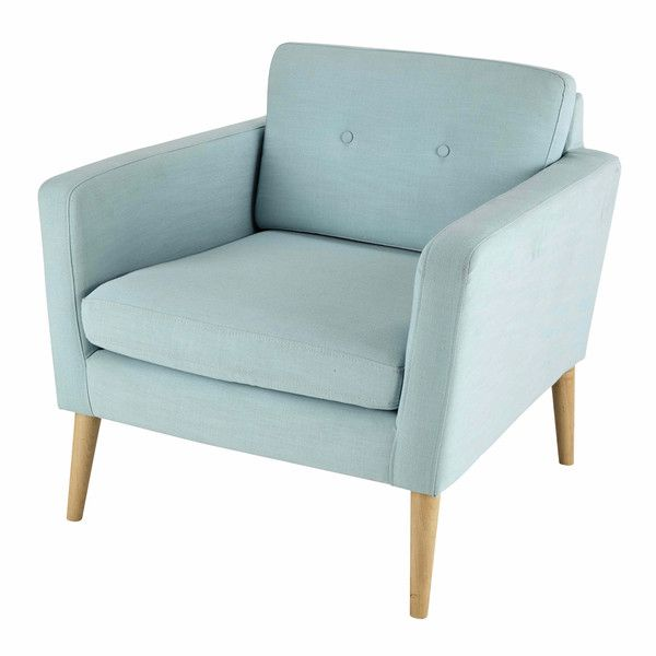 Sillón vintage de tela azul claro - Noe 270€