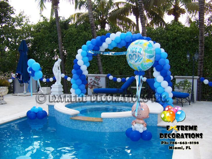 239 best balloons outdoor images on pinterest for Baby shower balloon decoration ideas