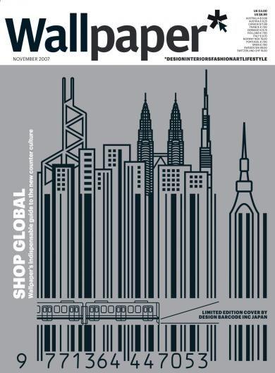 Wallpaper*  retail issue, Design Barcode.