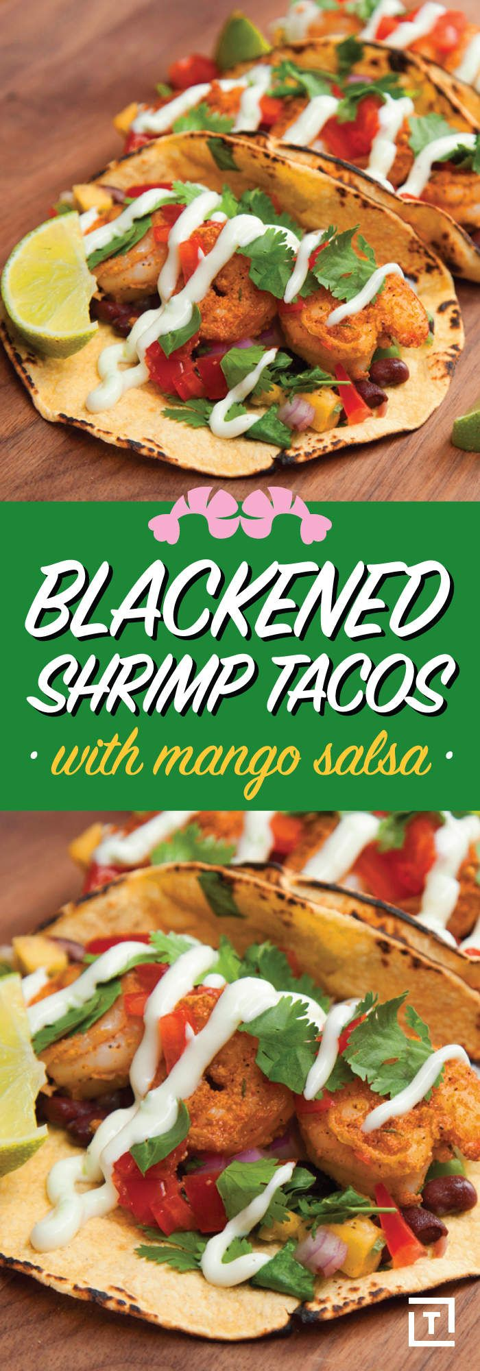 These Blackened Shrimp Tacos with Mango Salsa Are Drool-Worthy