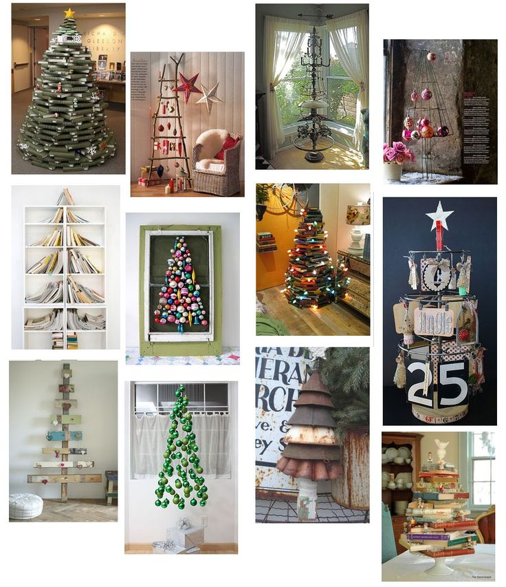 From Margos Junkin Journal unique Christmas tree ideas