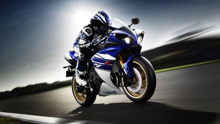 Yamaha YZF-R1 motorcycle, rider, sport bike, speed wallpaper 1920x1080