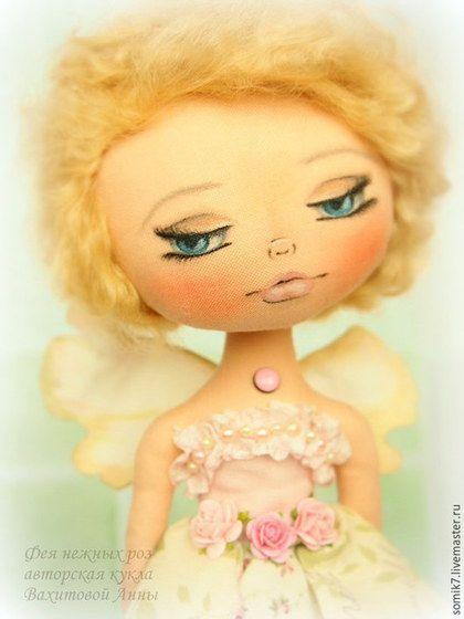 Купить Фея нежных роз - кукла, бледно-розовый, коллекционная кукла, кукла ручной работы