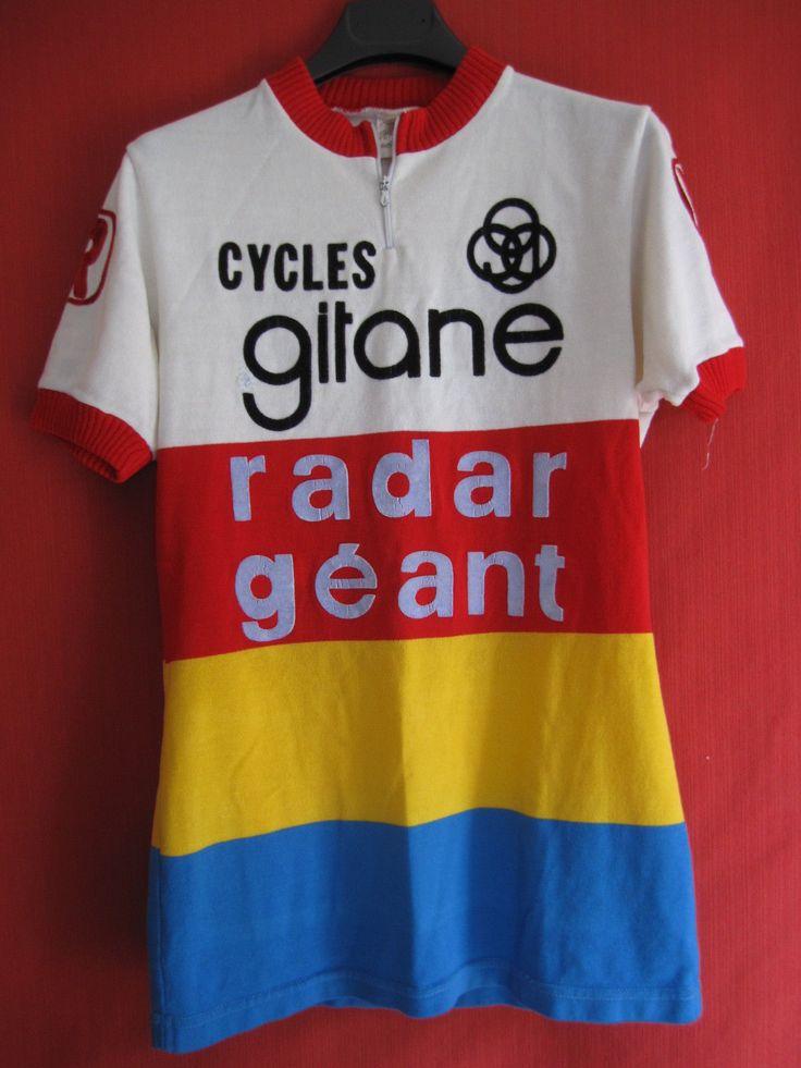 Maillot Cycliste Cycles Gitane Radar Géant Vintage 70'S Vélo BE 3   eBay
