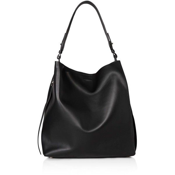 Allsaints Paradise North/South Tote (103.395 HUF) ❤ liked on Polyvore featuring bags, handbags, tote bags, black, north south tote bag, tote bag purse, north south tote, handbags totes and handbags tote bags