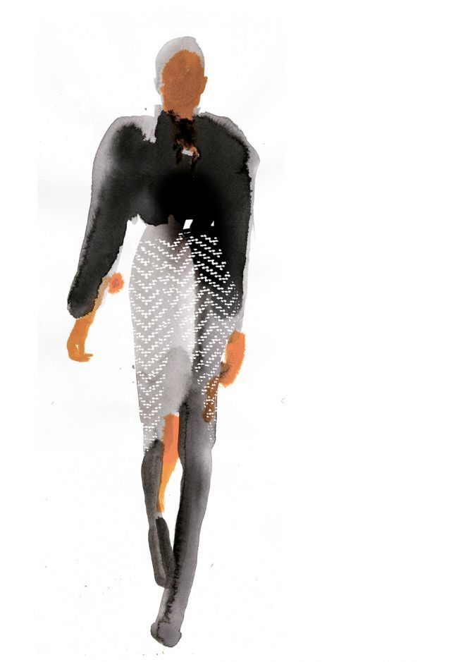 Fashion Illustration: Balmain   Stina Persson   makersmgmt.com