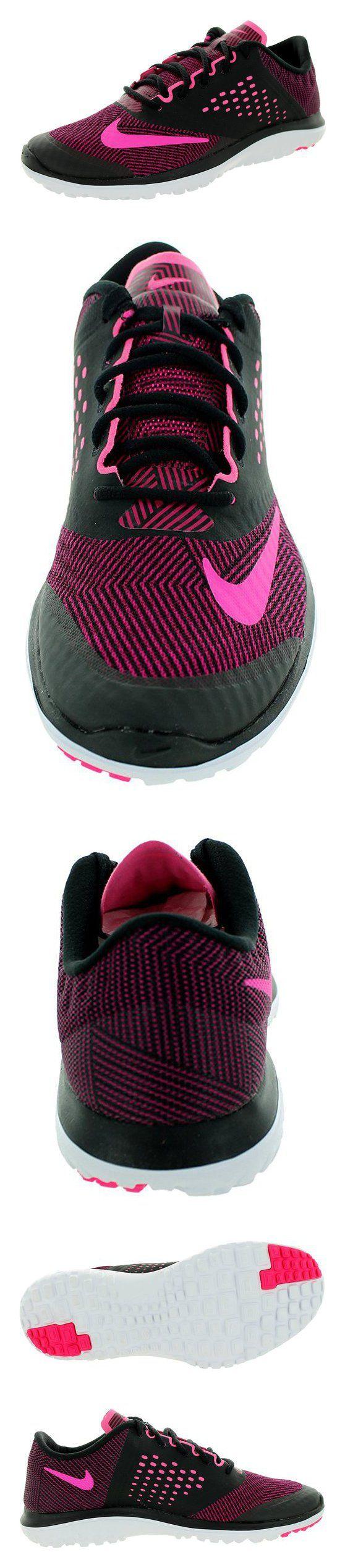 $80 - Nike Women's Fs Lite Run 2 Prem Black/Pink Pow/Sprt Fchs/White Running Shoe 9 Women US #shoes #nike