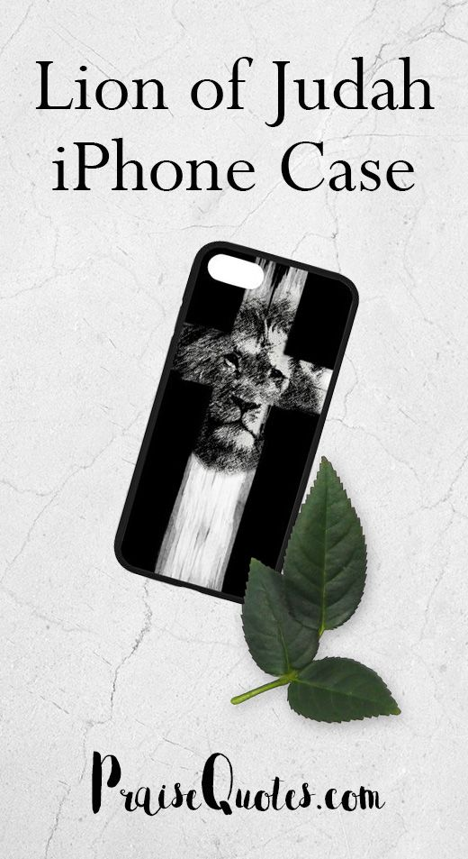 The Lion of Judah, our Jesus, is the one who has the victory, the one who conquers and is a mighty warrior. Uplift your faith with the powerful image on this iPhone case!  This iPhone case is not available in stores.