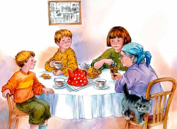 мнению создателей картинка семья за столом чаепитие капусты бюджетное