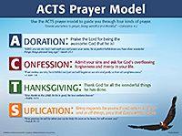 ACTS Prayer Model - Wall Chart - Laminated - Rose Publishing