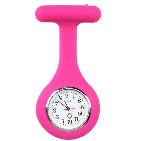 Verpleegster horloge jelly roze