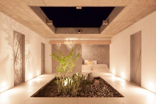 Casa de playa en un rancho de diseño: dormitorios