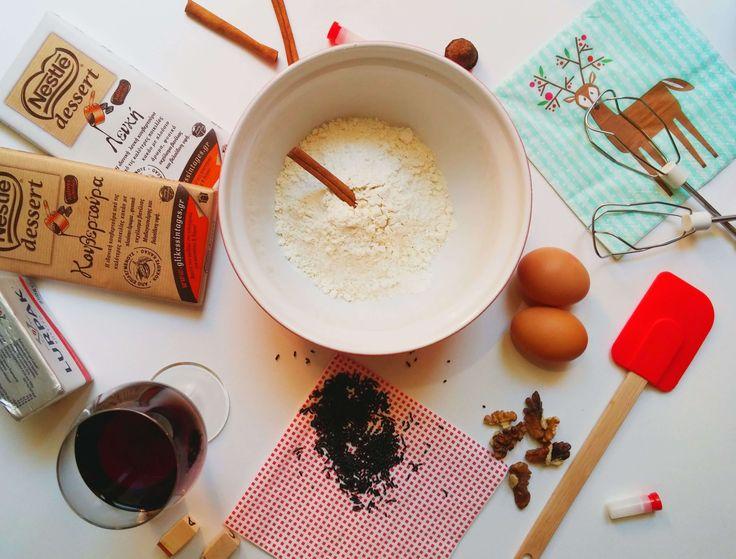 We love Christmas: Christmas Cake with Chocolate, Cinnamon and Wine - Violetmimosa