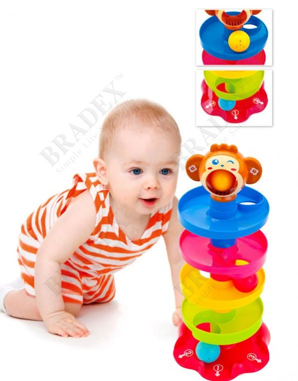 Игрушка детская с шариками «ПИРАМИДКА» АРТИКУЛ: DE 0214 Мечтаете, чтобы Ваш малыш проводил игровое время с пользой? Пирамидка с шариками — это милый развивающий тренажер для детей , который не только развеселит Ваше чадо, но и сделает игру обучающей.  • Пирамидка состоит из нескольких разноцветных частей, которые довольно просто собираются в цельную башенку с головой обезьянки наверху: при этом малыш развивает мелкую моторику, изучает цвета, счет и тренируется быть внимательным. • После…