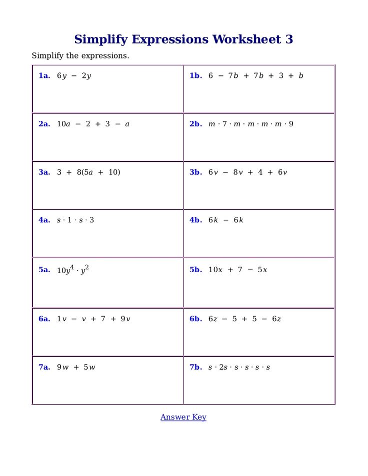 Printable Worksheets translating words into algebraic expressions worksheets : The 25+ best Simplifying algebraic expressions ideas on Pinterest ...