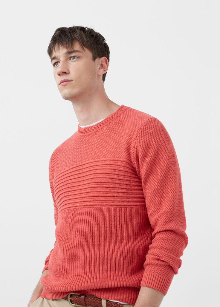 Contrasting knit sweater – Man