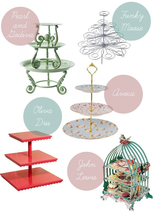 Wedding Cake Stands, Wedding Cupcake Tier Stands