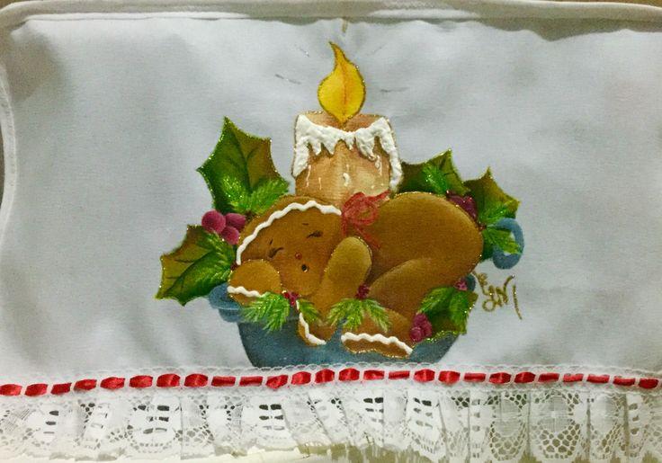 Motivo navide o mis trabajos en tecido pintura en tela - Pintura en tela motivos navidenos ...