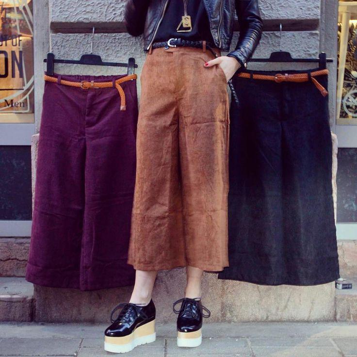 Velvet touch szputnyikshop trousers vintage shoes style 30s androgyn culottes