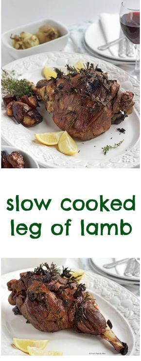 Slow cooked leg of lamb with rosemary and garlic. Classic Sunday roast that is tender, melt-in-the-mouth and falls off the bone.