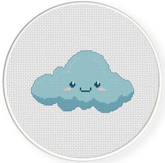Charts Club Members Only: Cute Cloud Cross Stitch Pattern