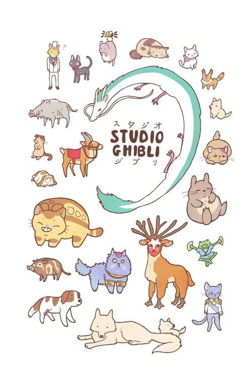 """stephhodges: """"NEW Animals of Studio Ghibli design available here. """""""