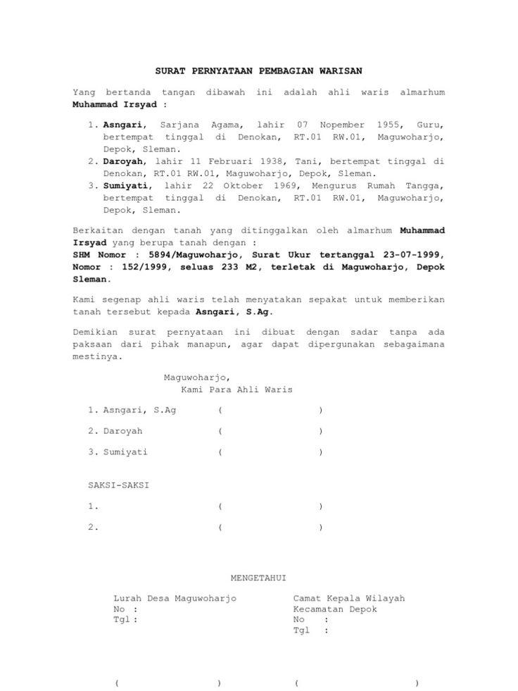Iu0027m reading Contoh Surat Pernyataan Ikrar Wakaf on Scribd kua - fine dining server resume example