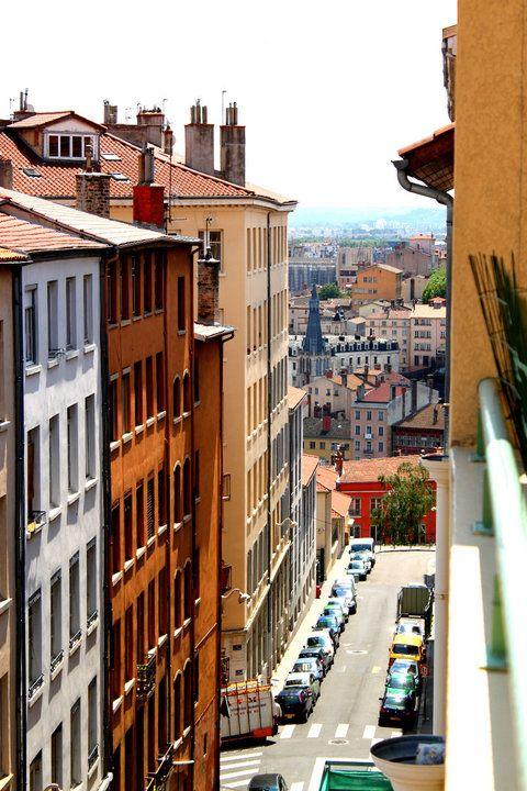 Photo des pentes de la Croix Rousse, Lyon, France