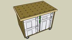 3D Model of Mobile Work Table For Festool Kapex Saw