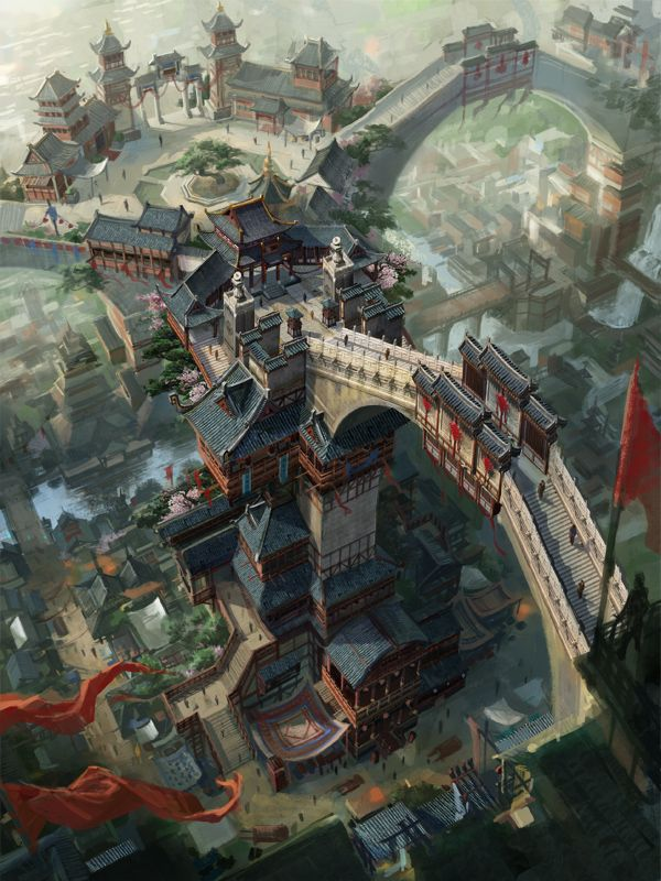 dragon_city by_c_h_e_n_k_a_i. Asian fantasy art, digital illustrations and character studies. Amazing matte paintings